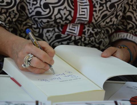 Rosa Montero en la Feria del Libro de Madrid 2015