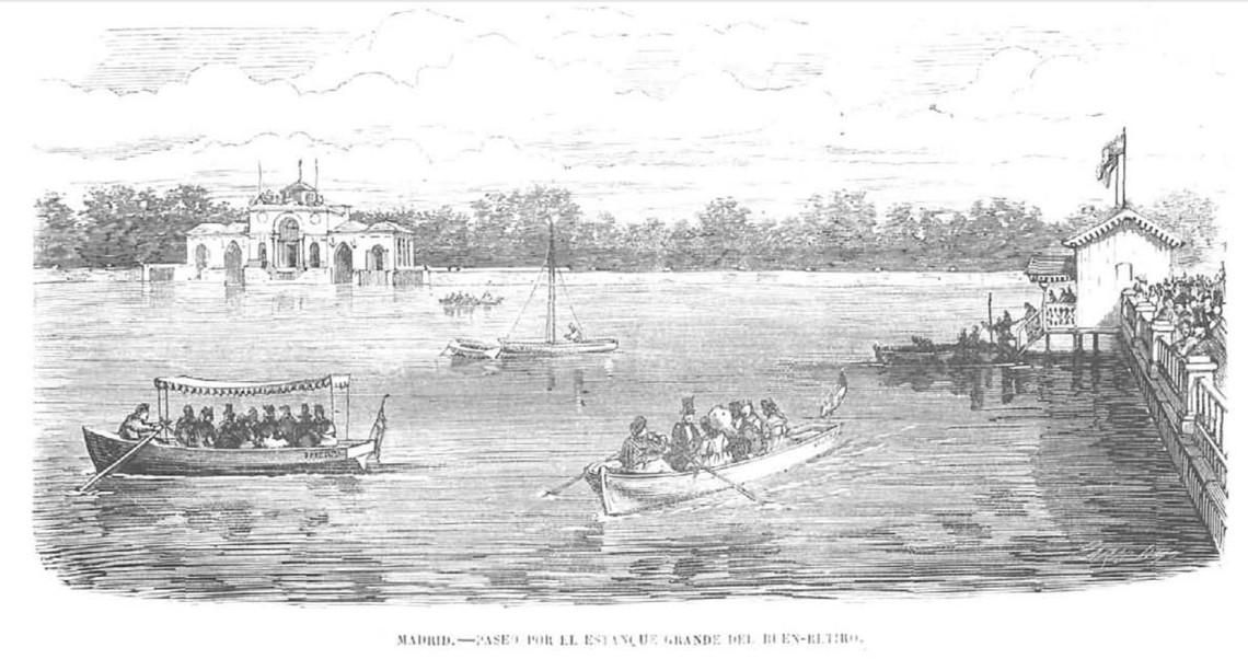Las barcas del Retiro en 1867