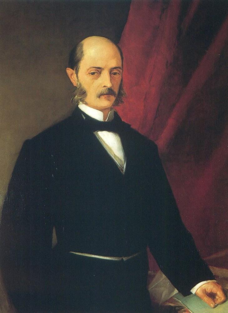 Laureano Figuerola como Presidente del Senado