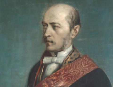 Laureano Figuerola, como Ministro de Hacienda