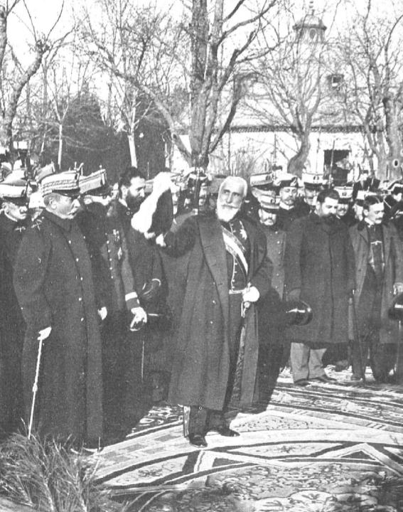 Dicsurso de Antonio Maura en la inauguración del monumento a Martínez Campos el 28 de enero de 1907 (Foto Campúa en Nuevo Mundo)